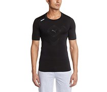 Puma Printed Men S Round Neck T Shirt, Black