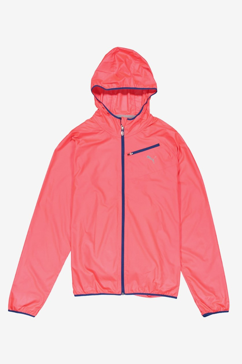 Mens  Core-Run Hooded Jacket, Bright Plasma