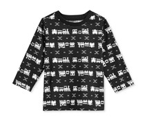 First Impressions Baby Boy Long-Sleeve Shirt, Deep Black