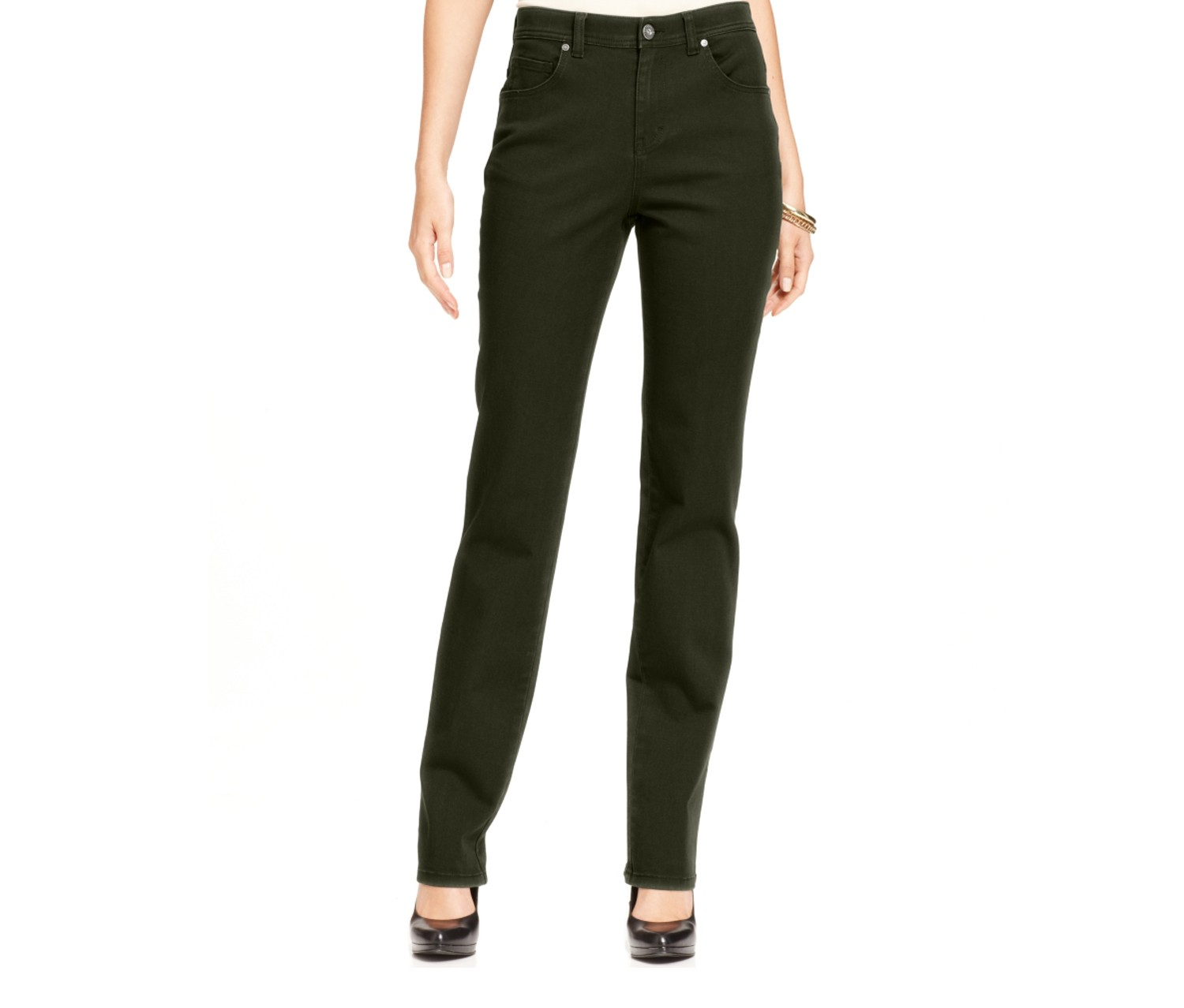 Women's Tummy-control Straight-Leg Jeans, Evening Olive