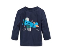 First Impressions Baby Boy's Long-Sleeve Graphic-Print T-Shirt, Navy