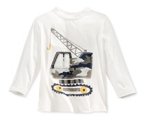 First Impressions Long-Sleeve Graphic-Print T-Shirt, Angel White