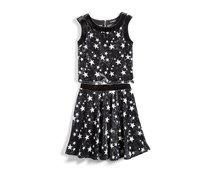 Nowadays Skai Tween 2-Pc. Velvet Star Print Skirt Set, Black