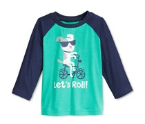 Toddlers Long-Sleeve Graphic-Print T-Shirt, Green Lake