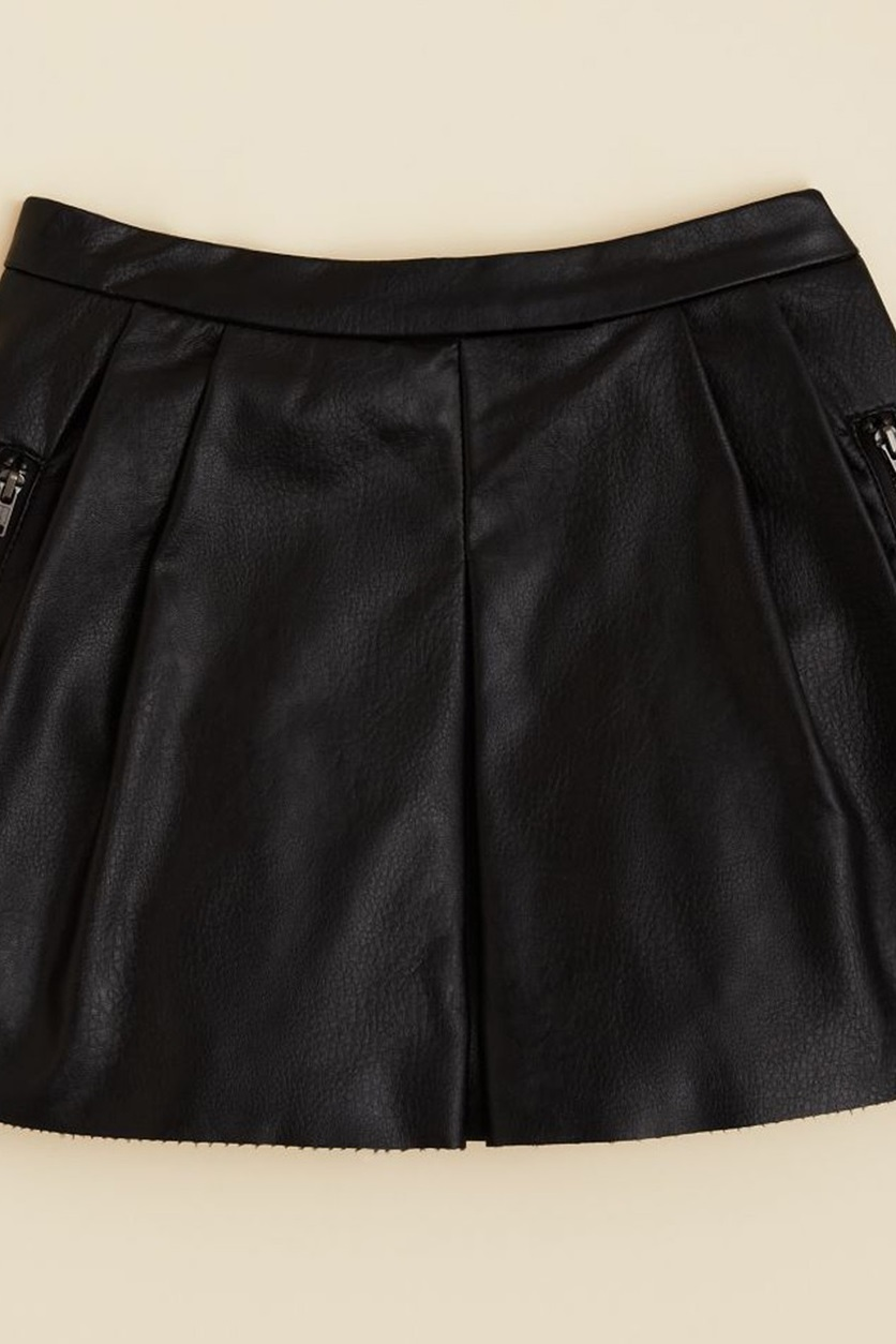 cdea1b4e9e Shop Blank NYC Blanknyc Girls' Faux Leather Mini Skirt, Black for ...