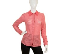 Guess by Marciano Women's Shirt Lace, Coral Pink