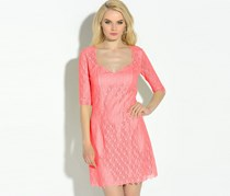 Guess by Marciano Allover Lace Dress, Coral