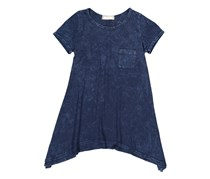 Soprano Girl's Chest Pocket Tunic Top, Navy
