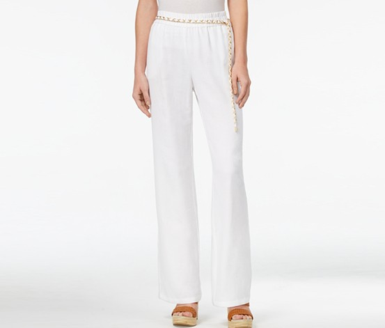 Petite Pull-On Pants, Bright White