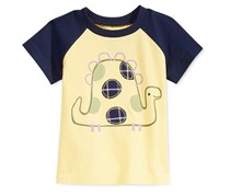 First Impressions Cotton Graphic-Print T-Shirt, Sunny Yellow