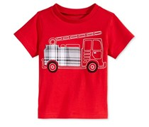 First Impressions Baby Boys Graphic-Print T-Shirt, Infra Red