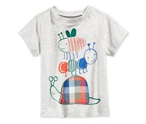First Impressions Baby Boys Graphic-Print Cotton T-Shirt, Slate Heather