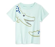 First Impressions Baby Boys Graphic-Print Cotton T-Shirt, Beach Glass