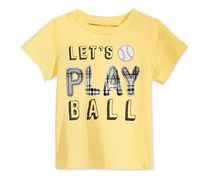 First Impressions Baby Boys Cotton Graphic-Print T-Shirt, Sunny Yellow