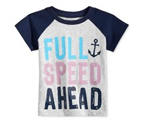 First Impressions Cotton Graphic-Print T-Shirt, Slate Heather