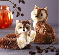 Decorative Figures, Set of 2, Fox