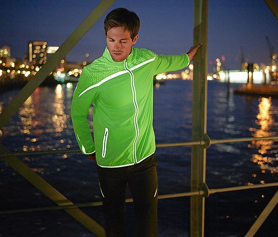 Reflective Sport Jacket, Neon Green