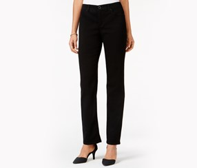 Jm Collection Embellished Straight-Leg Jeans, Saturated Black