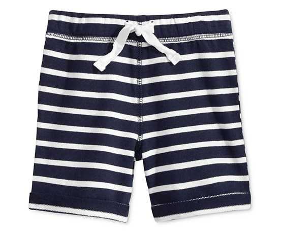 First Impressions Baby Boys Striped Shorts, Navy Nautical