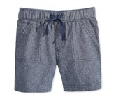 First Impressions Baby Pull-On Shorts, Chambray