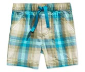 First Impressions Pull-On Plaid Shorts, Fennel