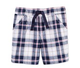 First Impressions Pull-On Plaid Shorts, Bright White
