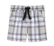 First Impressions Plaid Shorts, Bright White