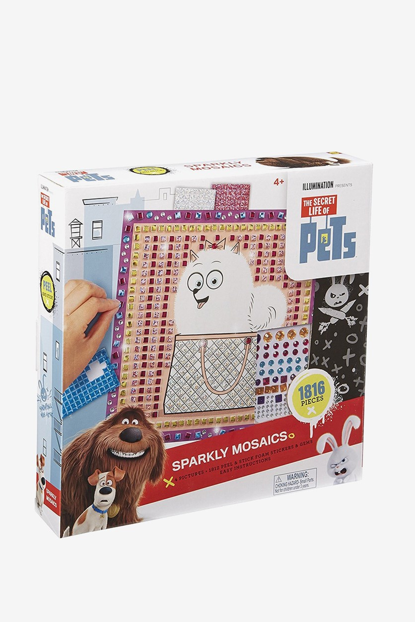 Toys The Secret Life of Pets Sparkly Mosaics, White
