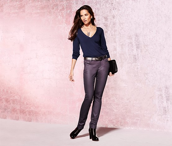 Women's Coated Jeans