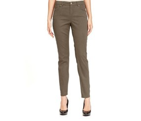 Style & Co Curvy-Fit Skinny Jeans, Warm Taupe