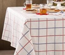 table cloth, check, double size