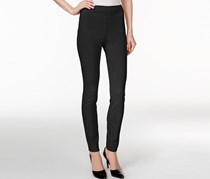 Style & Co Petite Tummy Comfort Leggings, Deep Black