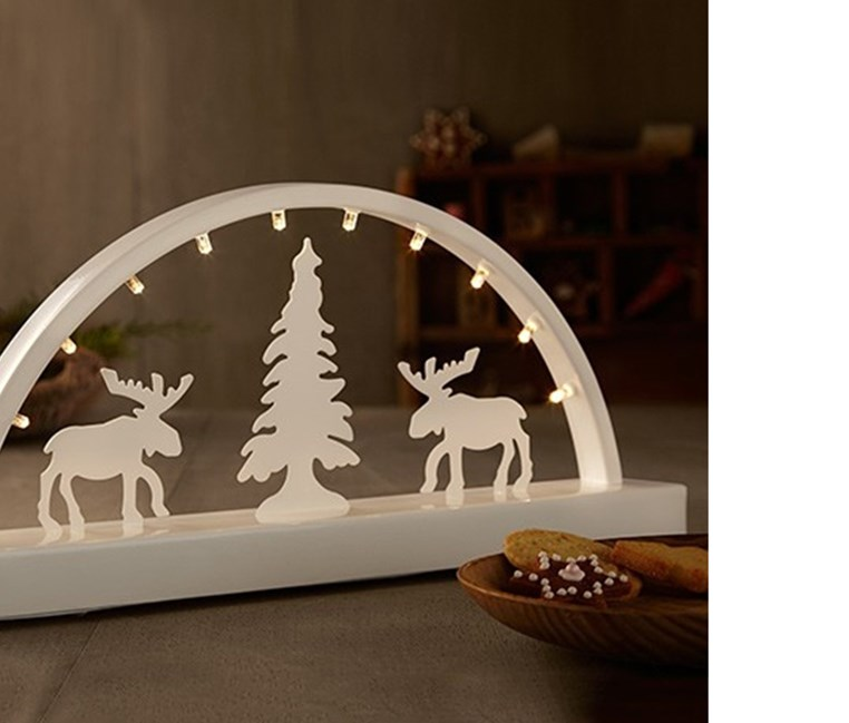 Led Candle Arch, White
