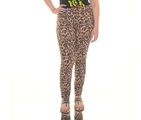 . Skinny Leg Classic Animal Pants, Leopard