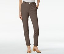 Style & Co Petite Chino Boyfriend Pants, Brown Clay