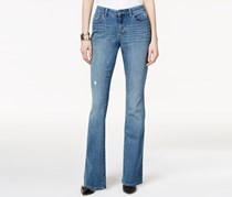 Style Co. Ripped Flare-Leg Jeans, Sea Glass