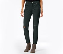 Style & Co. Ripped Colored Wash Skinny Jeans, Carbon Grey