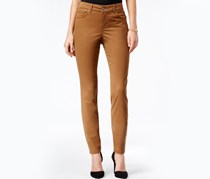 Style & Co. Faux-Suede Skinny Pants, Tabacco