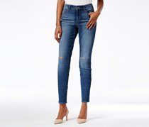 Style & Co Ripped Skinny Jeans, Blue