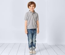 Boy's Polo Shirt Set of 2, Gray/Navy