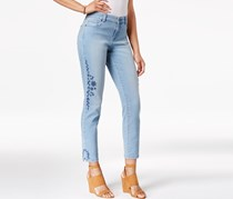 Petite Embroidered Skinny Jeans, Calabasas Wash