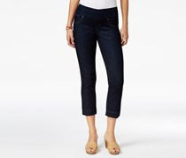 Style & Co Pull-On Rinse Wash Capri Jeans, Rinse