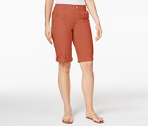 Style & Co Petite Cuffed Bermuda Shorts, Terracotta