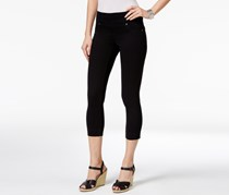 . Petite Ella Pull-On Wash Capri Jeans, Deep Black