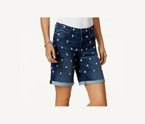 Style & Co Embroidered Denim Shorts, Palm
