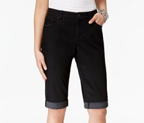 Style Co Cuffed Bermuda Shorts, Black Rinse