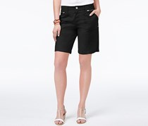Style & Co Zippered-Pocket Shorts, Deep Black