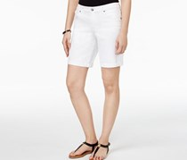 Style & Co Cuffed Denim Shorts, Bright White