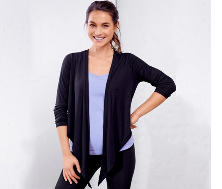 Women's Wellness Bolero, Aubergine