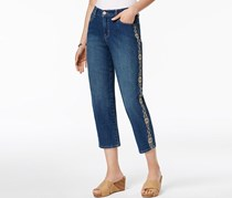 Style & Co Embroidered Slim-Leg Jeans, Quincy